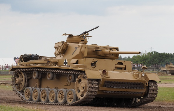 Картинка танк, бронетехника, средний, Panzerkampfwagen III, PzKpfw III