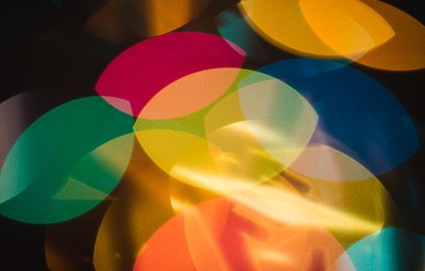 Картинка свет, фон, цвет, формы, фигуры