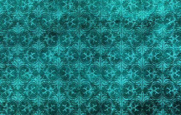 Фото обои цветы, узор, зеленый, текстура, фон