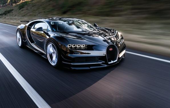 Картинка car, Bugatti, wallpaper, supercar, бугатти, road, speed, гиперкар, Chiron