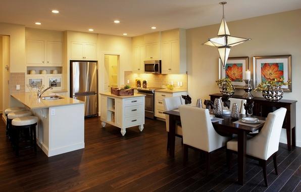 Картинка интерьер, потолок, кухня, дизайн картины