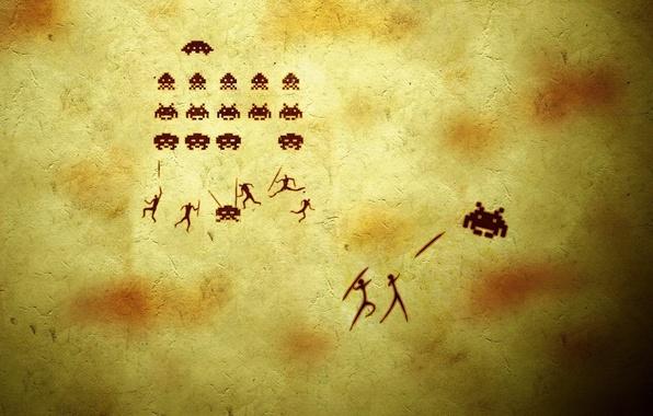 Картинка фон, люди, игра, юмор, жуки, прикол, копья, стрелялка