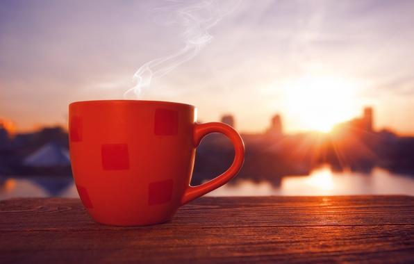 Картинка кофе, чашка, напиток, красная