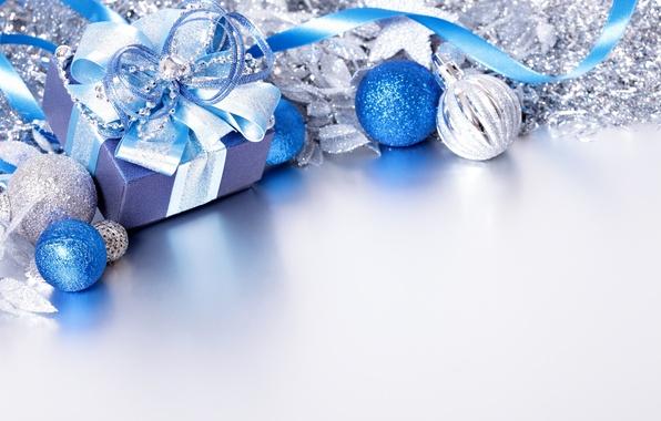 Картинка снег, украшения, шары, Новый Год, Рождество, Christmas, balls, decoration, Merry