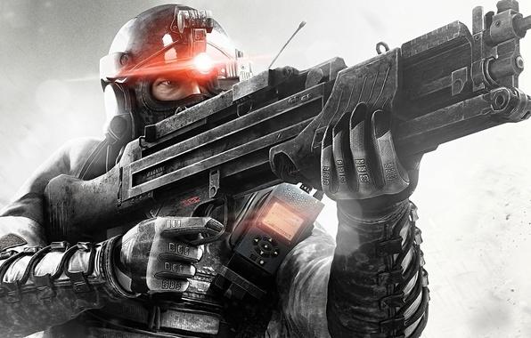 Картинка оружие, автомат, мужчина, персонаж, splinter cell: black list