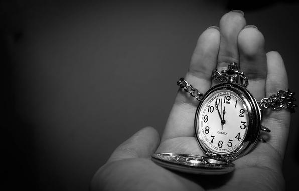 Картинка время, стрелки, часы, рука, цифры, циферблат, цепочка