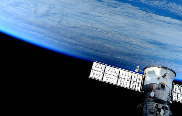 Картинка космос, корабль, планета, Земля, космический, пилотируемый