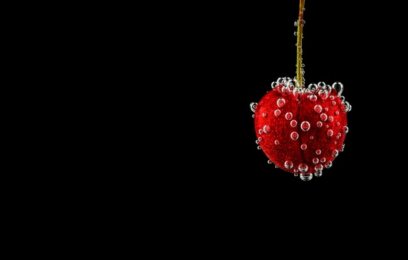 Картинка пузырьки, вишня, ягода