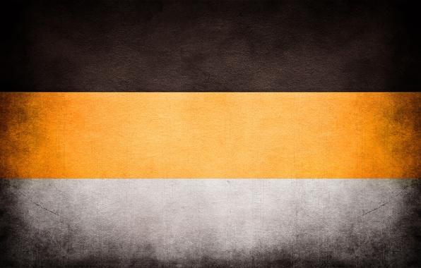 Обои желтая, черная, имперский флаг, имперка, белая ...