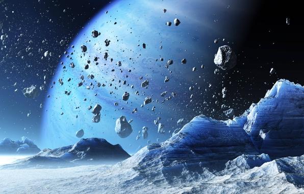 Картинка space, rock, blue, planet