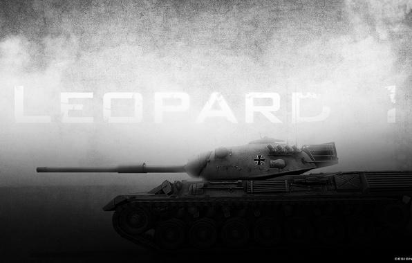 Картинка dark, танк, world of tanks, wot, Leopard 1
