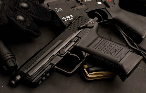 Картинка German, gun, pistol, weapon, Germany, rifle, gloves, HK416, assault rifle, sugoi, Heckler & Koch, 5.56×45mm, …