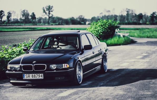 Картинка BMW, Бумер, БМВ, Black, Stance, E38, Bimmer, 740iA