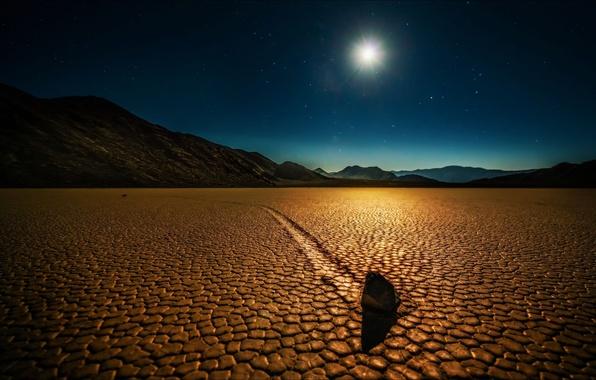 Картинка ночь, пустыня, Природа, Калифорния, США, Долина смерти