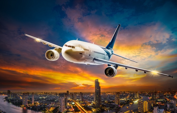 Небо картинки самолет 7