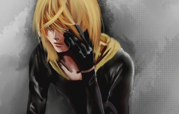 Картинка краски, рисунок, перчатки, парень, блондин, Mello, DEATH NOTE