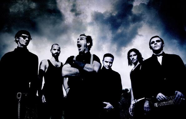 Картинка metal, rock, Rammstein, метал, рок, Till Lindemann, Оливер Ридель, Тилль Линдеманн, industrial metal, Пауль Ландерс, …