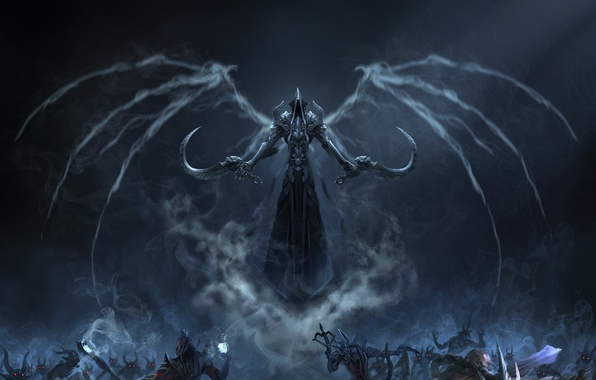 Картинка Blizzard, Art, Diablo 3, Background, Blizzard Entertainment, Minions, Fan Art, Reaper, Video Game, Reaper of ...