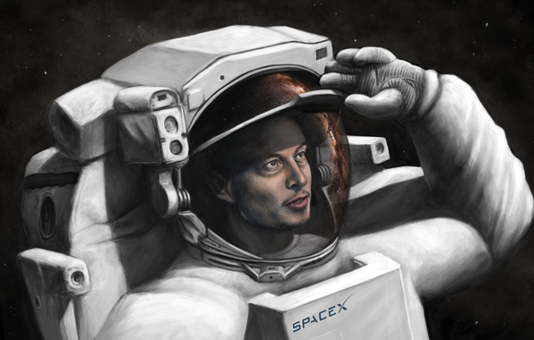 Картинка SpaceX, spacesuit, Elon Musk