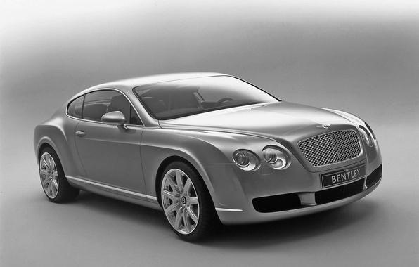 Картинка авто, Bentley, Continental, Ч/б