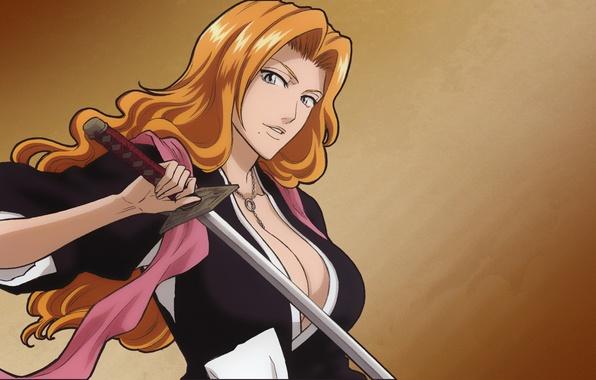 Картинка блондинка, Bleach, anime, Rangiku Matsumoto