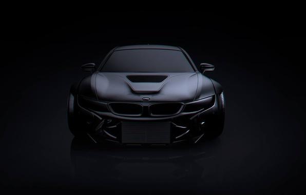Картинка BMW, Dark, Black, Matte, Tuning, Future, by Khyzyl Saleem