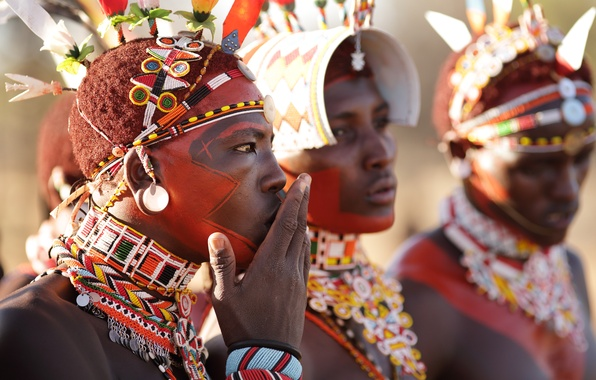 Картинка africa, Kenya, Samburu warriors