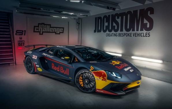 Фото обои Lamborghini, Red Bull, Aventador, Superveloce