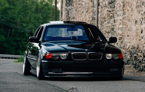 Фото обои E38, BMW, stance