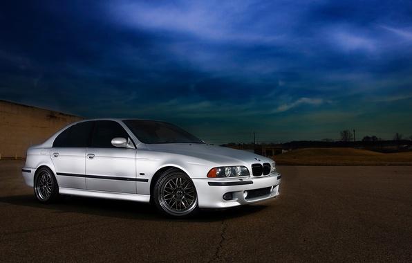 Картинка дорога, машина, BMW, БМВ, 2002, E39