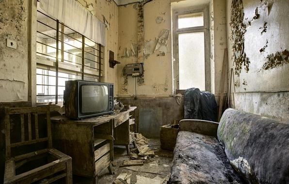 Картинка комната, диван, интерьер, телевизор