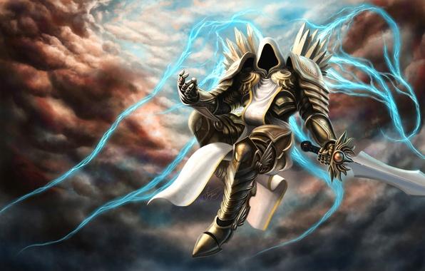 Картинка blizzard, diablo, art, tyrael, Archangel of Justice