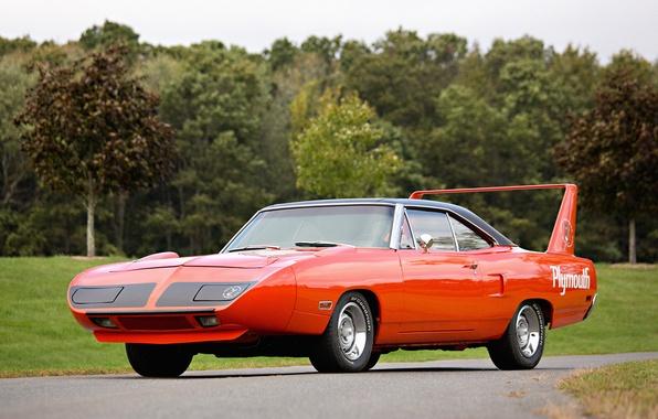 Картинка red, Plymouth, Muscle car, плимут, Superbird, Road Runner