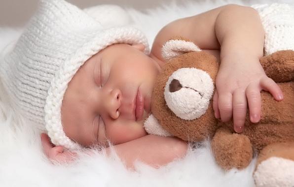 Картинка детство, игрушка, сон, ребёнок, младенец