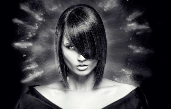 Картинка портрет, причёска, каре, чёлка, Aura