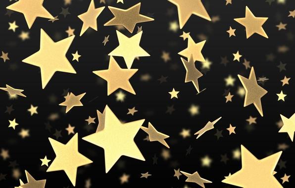 Картинка звезды, gold, black, yellow