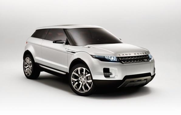 Картинка белый, концепт-кар, Land Rover, LRX