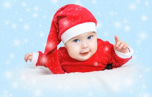 Картинка праздник, Новый Год, Рождество, Christmas, New Year, child, baby, santa, baby santa
