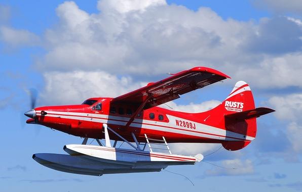 Картинка небо, легкий, самолёт, одномоторный, турбовинтовой, DHC-3 Turbo Otter