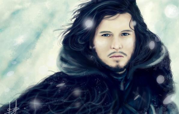 Картинка снег, мужчина, A Song of Ice and Fire, Игра Престолов, Песнь Льда и Огня, Game …