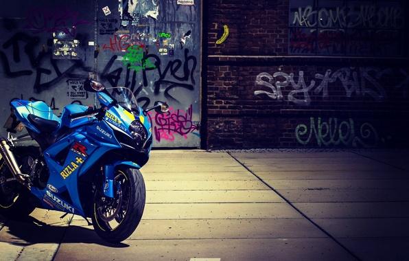 Картинка улица, граффити, мотоцикл, байк, Suzuki, bike, сузуки, GSX-R1000