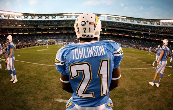 Картинка Sport, American football, San Diego Chargers, Tomlinson, Американский футбол