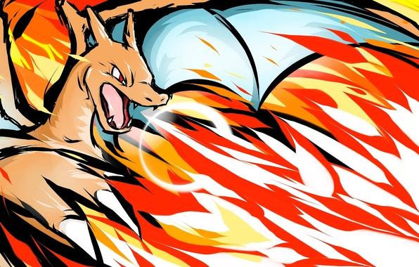 Картинка fire, pokemon, charizard