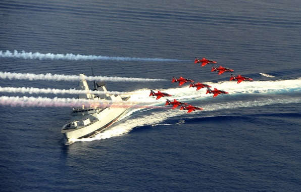 Картинка армия, Red Arrows, HMS Diamond