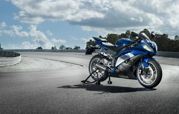 Картинка мотоциклы, спорт, гонки, sport, трек, yamaha, moto, bike, ямаха