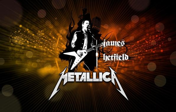 Картинка металл, гитарист, rock, рок, metallica, электрогитара, металлика, james hetfield