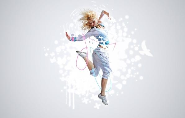 Картинка свобода, девушка, музыка, движение, прыжок, танец, music, freedom, rhythm, ритм, dancer