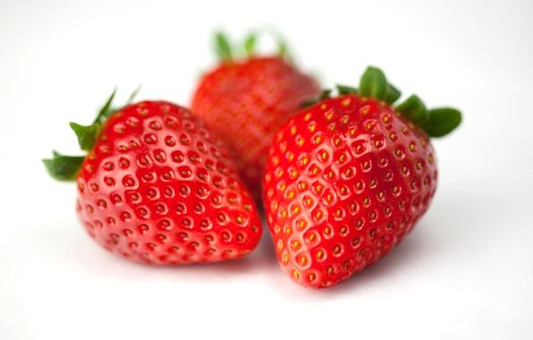 Картинка клубника, ягода, red, красная, Macro, Strawberries