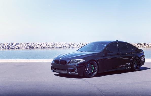 Картинка BMW, Black, Tuning, F10, 550, Concept One