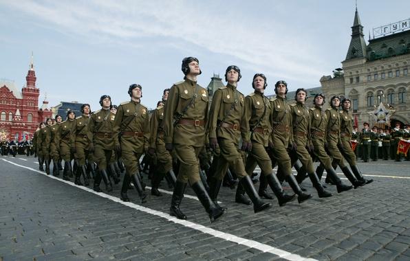 Картинка память, праздник, победа, солдаты, Москва, форма, СССР, Россия, 9 мая, русские, бойцы, ВОВ, войска, марш, …